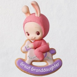 Great Granddaughter Bunny Ornament