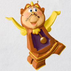 Disney Beauty and the Beast Cogsworth Ornament