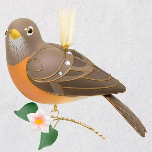 The Beauty of Birds Lady Robin Ornament