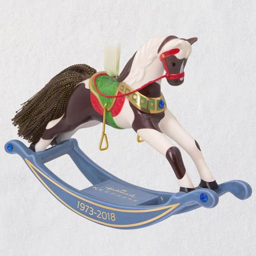 Forty-Five Years of Memories Rocking Horse Porcelain Ornament
