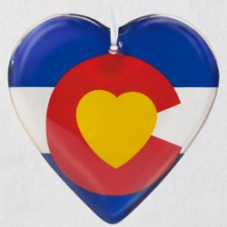 The Heart of Colorado Ornament