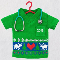 Happy Holiday Scrubs 2018 Ornament