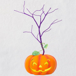 Mini Halloween Ornament Tree With Light
