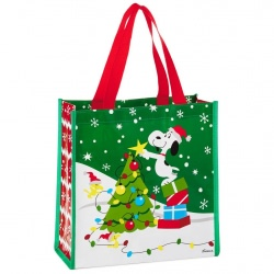 Peanuts® Snoopy and Woodstock Christmas Reusable Tote