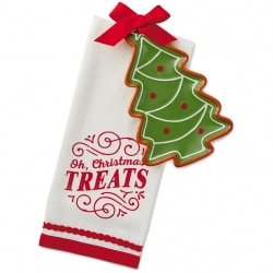 Christmas Tree Tea Towel and Appetizer Plate
