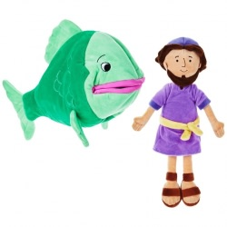 Jonah and the Big Fish Stuffed Doll Set