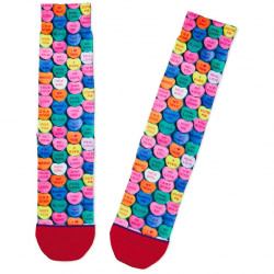 Candy Conversation Hearts Toe of a Kind Valentine's Day Socks