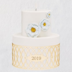I Do Wedding Cake 2019 Porcelain and Metal Ornament