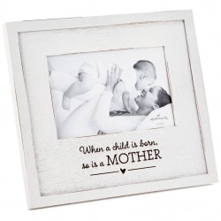 A Mother is Born Wood Picture Frame