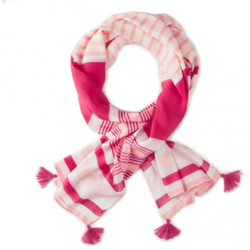 Mark & Hall Pink Striped Wrap Scarf