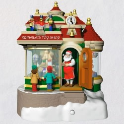 Kringle's Toy Shop Ornament With Light, Sound and Motion