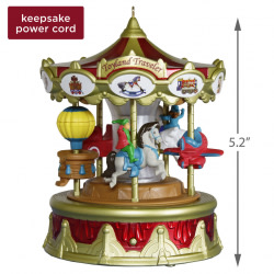 Christmas Carnival Toyland Traveler Musical Ornament With Light