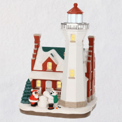 Holiday Lighthouse 2019 Ornament With Light