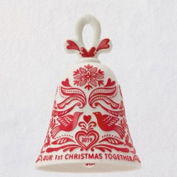 Our First Christmas Bell 2019 Porcelain Ornament