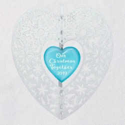 Our Christmas Together Heart 2019 Metal Ornament