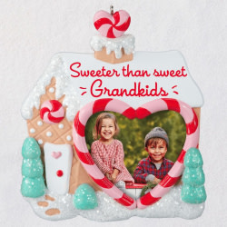 Sweet Grandkids Gingerbread House Photo Frame Ornament