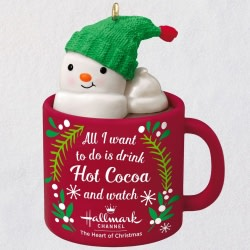 I Love Hallmark Channel! Snowman in Mug Ornament