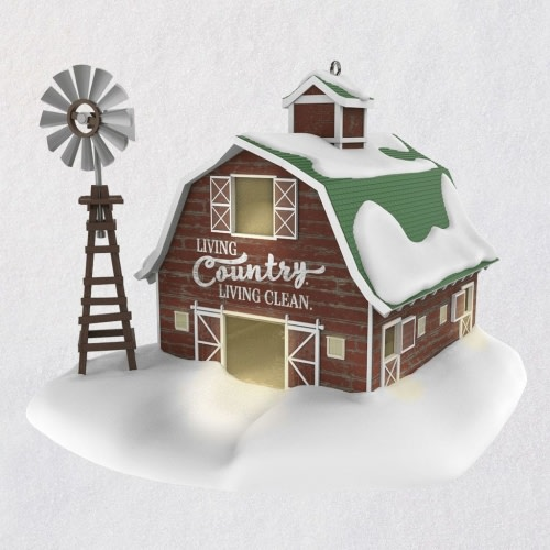Clean Country Living Barn Ornament