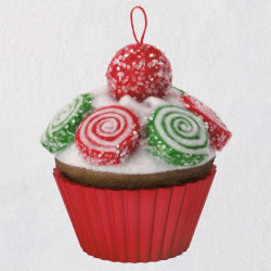 Christmas Cupcakes Pinwheel Sweetness Ornament