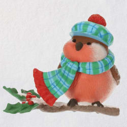 Cozy Critters Bird Ornament