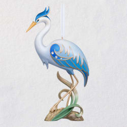 The Beauty of Birds Great Blue Heron 15th Anniversary Ornament