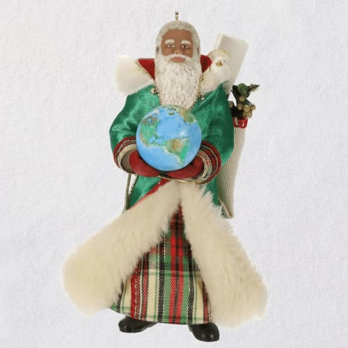 African-American Father Christmas Ornament
