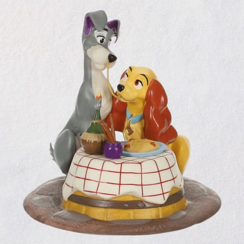 Disney Lady and the Tramp A Beautiful Night Porcelain Ornament