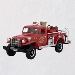 Fire Brigade 1958 Dodge Power Wagon Fire Engine Ornament