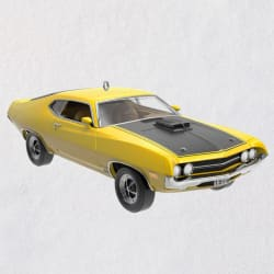 Classic American Cars 1970 Ford Torino Cobra Metal Ornament