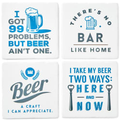 Beer Appreciation Ceramic Coasters