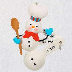 Cuteness Beyond Measure Baking Snowman Ornament