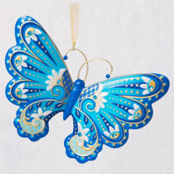 Graceful Butterfly Porcelain Ornament