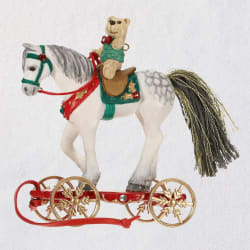 Pretty Pony for Christmas Porcelain Ornament
