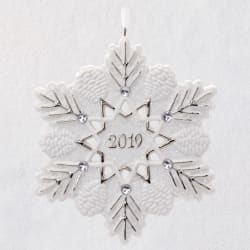 2019 Snowflake Porcelain Ornament