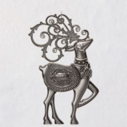 Regal Deer 2019 Metal Ornament