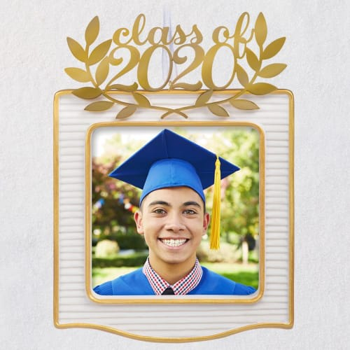 Congrats, Grad! 2020 Porcelain and Metal Photo Frame Ornament