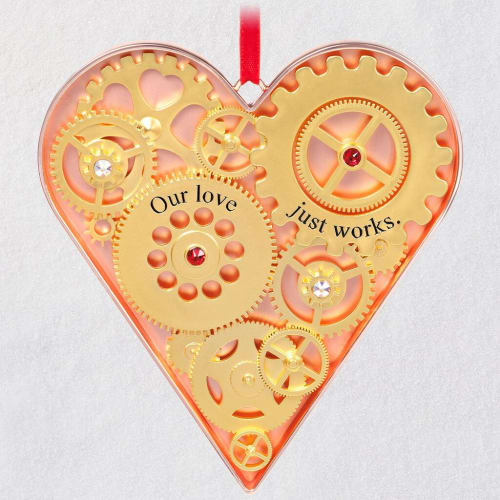 Our Love Just Works Metal Ornament