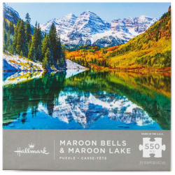 Maroon Bells and Maroon Lake Mountain Scene 550-Piece Puzzle