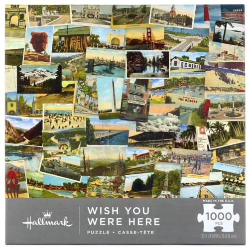 Wish You Were Here Vintage Postcards 1,000-Piece Puzzle