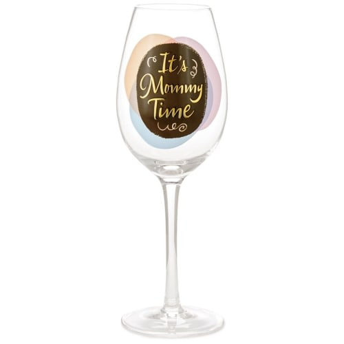 Mommy Time Wine Glass
