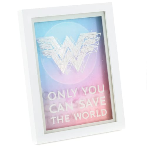 DC Comics™ Wonder Woman 1984™ Save the World Framed Quote Sign