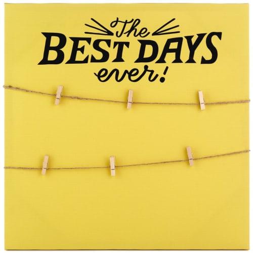 Best Days Ever Photo Holder Canvas Sign