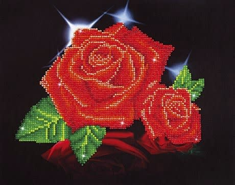 Red Rose Sparkle Diamond Painting Kit