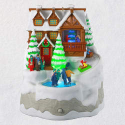 Christmas Cabin Musical Ornament