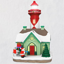 Holiday Lighthouse 2020 ornament