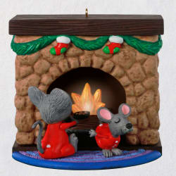 Merry Mice Fireplace Musical Ornament