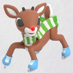 Rudolph the Red-Nosed Reindeer® Slippery Skating Ornament