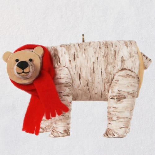 Birch Polar Bear Ornament