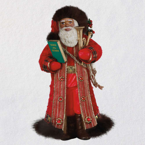 African-American Father Christmas Ornament 2020