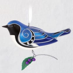 The Beauty of Birds Black-Throated Blue Warbler Ornament